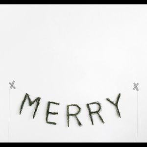 Christmas saying banner made out of fresh pine!